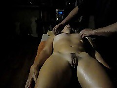 Hubby filmed the massage