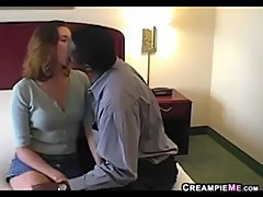Wife Gets A Creampie By A Big Black Cock